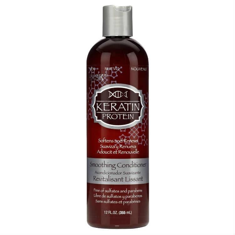 HASK Кондиционер для придания гладкости волосам с протеином Кератина 355млHask<br>Кондиционер для придания гладкости волосам с протеином КератинаБЕЗ: Сульфатов, парабенов, фталатов, спирта, искусственных красителей и ГлютенаКондиционер с протеином кератина облегчает расчесывание, мягко <br>разгладит вьющиеся и непослушные волосы, увлажнит  и придаст им <br>невероятный блеск. Идеально Подходит для вьющихся, сухих, поврежденных, <br>окрашенных и других химически обработанных волос. Вкусный запах этого <br>кондиционера затронет и возвысит Ваши чувства.Способ применения: щедро нанесите на влажные волосы. Оставьте на 1-2 <br>минуты, далее тщательно промойте волосы и наслаждайтесь результатом с <br>великолепными волосами!<br><br>Вес г: 405<br>Бренд : HASK<br>Объем мл: 355<br>Тип волос : сухие, поврежденные, окрашенные, после хим. завивки, вьющиеся<br>Действие : увлажнение, легкое расчесывание, блеск и эластичность, разглаживание<br>Тип средства для волос : кондиционер<br>Страна производитель : США