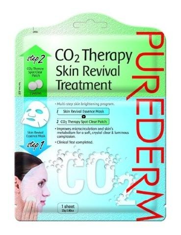 PUREDERM Маска 2в1 Восстанавливающая маска + патчи с СО2  2штPurederm<br>Многоступенчатая программа для восстановления и сияния кожи, которая состоит из восстанавливающей маски для лица на тканевой основе и патчей с CO2. Восстанавливающая маска – интенсивное средство для улучшения цвета лица и сияния кожи, содержит комплекс, способствующий восстановлению кожи с никотинамидом и смягчающими компонентами. Маска способствует осветлению темных пятен и общего улучшения цвета кожи. Натуральное волокно тканевой маски сохраняет больше влаги, помогая активным веществам глубоко проникать через поры. Патчи с CO2: при взаимодействии с восстанавливающей маски с патчами CO2 карбоновая кислота распределяется по поверхности кожи и выделяется CO2 (углекислый газ), усиливая микроциркуляцию и метаболизм кожи для сияющего, свежего и здорового цвета лица. Изготовлено на основе запатентованной технологии, клинически протестировано.  Способ применения  1) Тщательно очистите и высушите кожу лица. Отделите по линии с перфорацией нижнюю часть саше с маской от верхней части с патчами.   2) Откройте саше с маской и распределите ее равномерно на лице.   3) Вскройте саше с патчами с СО2 и приложите патчи на проблемные участки кожи (темные пятна или другие участки требующие восстановления). Прикладывать патчи необходимо поверх маски. Вы почувствуете, как выделяется СО2, создавая при выделении шипящий звук, как только вы нажимаете пальцем на патчи. Снимите маску и патчи через 15-20 мин, массируйте в кожу остаток средства. Не смывайте.  Состав  Патчи локального действия с CO2-состав: Sodium Bicarbonate, Citric Acid, Cellulose Gum, Vaccinium Myrtillus Fruit/Leaf Extract, Saccharum Officinarum (Sugar Cane) Extract, Acer Saccharum (Sugar Maple) Extract, Citrus Aurantium Dulcis (Orange) Fruit Extract, Citrus Limone (Lemon) Fruit Extract, Ascorbic Acid, Onsen-Sul, Water (Aqua). Восстанавливающая маска для лица-состав: Water (Aqua), Glycerin, Butylene Glycol, Galactomyces Ferment Filtrate, Xanthan Gum, Bi
