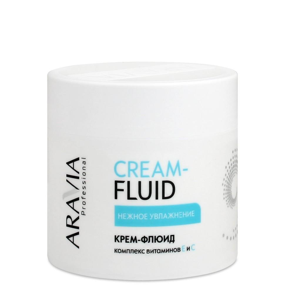 Aravia Крем-флюид Нежное увлажнение с витаминами Е и С 300млAravia<br>Крем-флюид предназначен для завершающего ухода за кожей после процедуры парафинотерапии. Легкая и воздушная текстура крема быстро впитывается в кожу, не оставляя жирного блеска, обеспечивает необходимое увлажнение и бережный уход. Комплекс витаминов Е и С выравнивает цвет кожи, повышает эластичность и защитные функции кожи.Применение: нанести небольшое количество крем-флюида на кожу и распределить круговыми движениями до полного впитывания.Активные компоненты: ромашка, витамин Е, витамин С, масло ши (карите), масло оливы.Объем: 300 мл<br><br>Вес г: 350<br>Бренд: Aravia<br>Объем мл: 300<br>Тип кожи: все типы кожи<br>Тип средства для депиляции: после депиляции, крем, эмульсия/флюид<br>Страна производитель: Россия