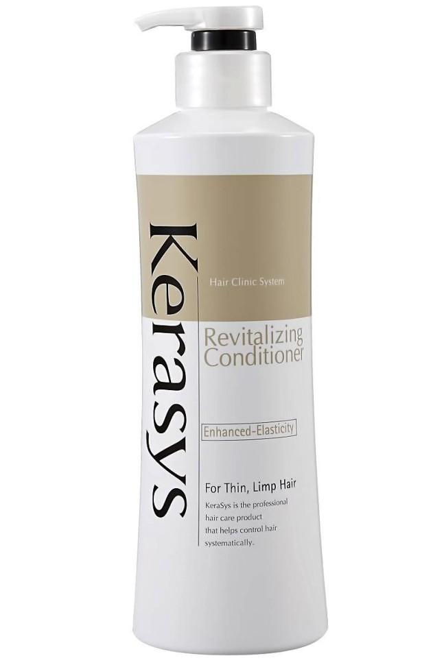 KeraSys Кондиционер для волос Оздоравливающий (600 мл)KeraSys<br>Керасис ОЗДОРАВЛИВАЮЩИЙ<br>Кондиционер для волос<br>Kerasys Hair Clinic RevitalizingТип волос: тонкие, ослабленные, негустые, плохо поддающиеся укладке волосы.Специально разработанная формула для тонких и ослабленных волос, укрепляет и восстанавливает структуру волос по всей длине. Волосы обретают жизненную силу, эластичность и объем. Обогащен лечебными веществами в составе липосом, которые проникают в клеточные структуры волоса и оказывают восстанавливающее и лечебное действие. Содержит кератиновый комплекс и витамины А и Е. Эффективность применения доказана клинически институтами дерматологии Германии и США.Результат применения:<br>На 75% больше эластичности;<br>На 75% дольше держится укладка;<br>Восполняет недостаток собственного белка в структуре волос.Kerasys – профессиональный  за волосами в домашних условиях.<br><br>Вес г: 650<br>Бренд : KeraSys<br>Объем мл: 400<br>Тип волос : тонкие и ослабленные<br>Действие : питание<br>Тип средства для волос : кондиционер<br>Страна производитель : Корея