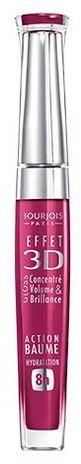 Bourjois Блеск для губ Effet 3D 8h (№57 матовый темно-розовый)Макияж<br>Bourjois Блеск для губ Effet 3D 8h увлажняет губы.Увлажнение в течение 8 часов и действие бальзама.3 измерения на губах: сияние, объем и цвет! Сегодня к великолепному блеску добавляется новое качество измерение заботы! Формула нового блеска для губ Bourjois 3d содержит микрокристаллические воски для интенсивного сияния и 92% увлажняющих и защищающих компонентов для «эффекта бальзама и 8 часов увлажнения». Наряду с маслами и восками в состав добавлены антиоксиданты - производные витаминов C и E, усиленные минеральным комплексом для интенсивной защиты чувствительной кожи губ. Формула не содержит парабенов. <br>Успешная комбинация объёмного геля и микрокристаллических восков обеспечивает захватывающий эффект, отражающий больше, чем зеркало! <br>Новый блеск делает губы глянцевыми и чувственными, заботясь также об их комфорте и увлажнении!Cостав: C10-30 Cholesterol/Lanosterol Esters, Polybutene, Octyldodecanol, Diisostearyl Malate, Silica Dimethyl Silylate, Calcium Aluminum Borosilicate, Cera Microcristallina (Microcrystalline Wax), Silica, 1,2-Hexanediol, Caprylyl Glycol, Parfum (Fragrance), PEG-8, Tocopherol, Benzyl Alcohol, Linalool, Geraniol, Ascorbyl Palmitate, Alpha-Isomethyl Ionone, Citronellol, Ascorbic Acid, Citric Acid, BHT, Ethylene/Propylene Copolymer, Polyethylene [+/- (May Contain): CI 12085 (Red 36), CI 15850 (Red 6), CI 15850 (Red 7 Lake), CI 15985 (Yellow 6 Lake), CI 17200 (Red 33), CI 19140 (Yellow 5 Lake), CI 42090 (Blue 1 Lake), CI 45380 (Red 22 Lake), CI 45410 (Red 28 Lake), CI 47005 (Yellow 10 Lake), CI 73360 (Red 30 Lake), CI 75470 (Carmine), CI 77002 (Alumina), CI 77019 (Mica), CI 77163 (Bismuth Oxychloride), CI 77491, CI 77492, CI 77499 (Iron Oxides), CI 77742 (Manganese Violet), CI 77861 (Tin Oxide), CI 77891(Titanium Dioxide)].<br><br>Вес г: 20<br>Бренд : Bourjois<br>Форма блеска : с кисточкой<br>Вид блеска : глянцевый<br>Объем мл: 5<br>Страна производитель : Франция