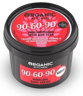 Organic shop Крем для тела моделирующий 90-60-90 100млOrganic shop<br>Мечтаете об идеальной фигуре? Совершенствуйте свой силуэт! Достигайте наилучших результатов! Моделирующий крем для тела 90-60-90 поможет сократить объемы талии и бедер, повысить упругость и эластичность кожи. Свежая арктическая малина тонизирует и увлажняет кожу, насыщая кожу витаминами и органическими кислотами, которые предотвращают появление «апельсиновой корки». Органическая кладония снежная усиливает подкожную микроциркуляцию, является сильнейшим антиоксидантом, моделирует контуры тела, возвращая красивую фигуру и подтянутый силуэт.Способ применения: Нанесите небольшое количество крема легкими массирующими движениями на чистую сухую кожу тела, уделяя особое внимание проблемным зонам.Объем: 100 мл.<br><br>Вес г: 130<br>Бренд : Organic shop<br>Объем мл: 100<br>Страна производитель : Россия