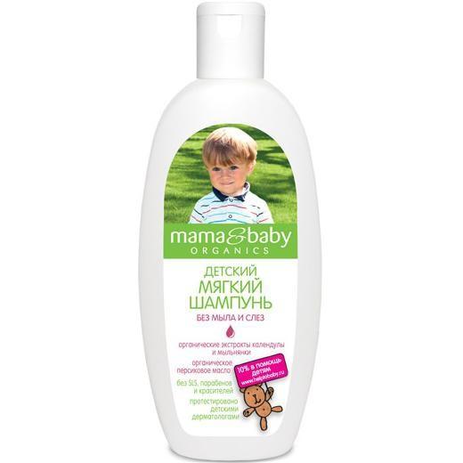 Mama&amp;Baby Шампунь мягкий Без мыла и слез 300 мл.Mama&amp;baby<br>Моющая основа мягкого шампуня Mama&amp;amp;Baby без мыла и SLS не сушит и не раздражает чувствительную детскую кожу. Безопасная формула не содержит парабенов и красителей. Шампунь смягчает воду, не щиплет глазки и деликатно очищает нежные волосы малыша. <br>Сертифицированные органические экстракты мыльнянки и календулы в сочетании с персиковым маслом обладают увлажняющими и успокаивающими свойствами.<br><br>Вес г: 350<br>Бренд : Mama&amp;Babу<br>Объем мл: 300<br>Страна производитель : Россия