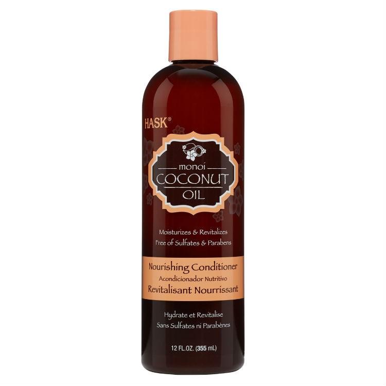 HASK Кондиционер питатательный для волос с Кокосовым маслом 355млУвлажняет и омолаживаетНе содержит сульфаты, парабены, фталаты, клейковину (глютен), спирт и искусственные красители.Питательный Кондиционер HASK с Кокосовым маслом — смесь таитянской <br>гардении и кокосового масла смягчает, увлажняет и укрепляет волосы, <br>мягко очищает, насыщает и  обновляет даже самые безжизненные пряди, <br>восстанавливая структуру волоса. Защищает от повреждений, смягчает и <br>укрепляет, в результате чего Ваши волосы станут мягкими и гладкими. <br>Приятный кокосовый аромат этого шампуня пробудит Ваши чувства и эмоции. <br>Подходит для всех типов волос.Способ применения: Нанесите достаточное количество кондиционера на <br>чистые и влажные волосы, оставьте на 1-2 минуты или чуть дольше. <br>Тщательно ополосните и наслаждайтесь яркими, живыми волосами, готовыми к<br> укладке. Для получения лучшего эффекта используйте с другими средствами<br> HASK из этой серии.<br><br>Вес г: 405<br>Бренд : HASK<br>Объем мл: 355<br>Тип волос : все типы волос<br>Действие : увлажнение, питание, восстановление<br>Тип средства для волос : кондиционер<br>Страна производитель : США