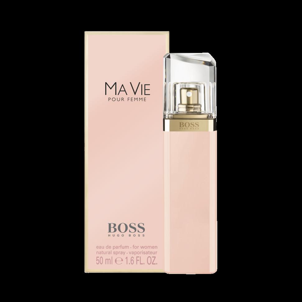Hugo Boss Ma vie Парфюмированная вода 50 млHugo Boss<br>Руководство по выбору:<br>Дневной и вечерний аромат<br>Описание:<br>Boss Ma vie Pour Femme – красивый женский аромат, продолжающий цветочную коллекцию бренда Hugo Boss. Парфюм 2014 года имеет тот же флакон, что и его предшественники, но окрашен в розовый цвет. Эти духи предназначены для сильных, независимых, современных женщин, находящих возможность насладиться редкими мгновениями жизни – полетом бабочки, запахом цветка или прикосновением теплых лучей солнца к коже. Современность женщины отражают экзотические аккорды цветущего кактуса – ароматные и зеленые одновременно, они несут в себе двойственность – красоту и защищенность. Женственность олицетворяют нежные цветочные ноты – игристой фрезии, чувственного, пьянящего жасмина и трогательных бутонов розы. Ну а независимость отражена в базе парфюма, звучащем хвойными нотами кедра на фоне мягких древесных аккордов.<br>Особенности состава:<br>Цветок куктуса - сильный, женственный, независимый<br>Мнение эксперта:<br>Аромат, отражающий самую суть женщины HUGO BOSS, с независимым характером, дарит умиротворяющее ощущение наслаждаться жизнью во всей ее полноте<br>Состав:<br>Alcohol Denat, Aqua (Water), Partfum (Fragrance), Methyl Cyclodextrin, Ethylhexyl Methoxycinnamate, Diethylamino Hydroxybenzoyl, Hexyl Benzoate, Disodium Edta, Bht, Limonene, Hydroxycitronellal, Linalool, Hydroxyisohexyl 3-Cyclohexene, Carboxaldehyde, Citronellol, Geraniol, Coumarin, Citral, Benzyl Alcohol<br><br>Вес г: 80<br>Бренд : Hugo Boss<br>Объем мл: 50<br>Возраст : 20+<br>Страна производитель : Великобритания<br>Вид Аромата : Цветочные<br>Шлейф : Древесные ноты, Кедр<br>Верхняя Нота : Цветок кактуса<br>Верхняя Нота : Цветок кактуса