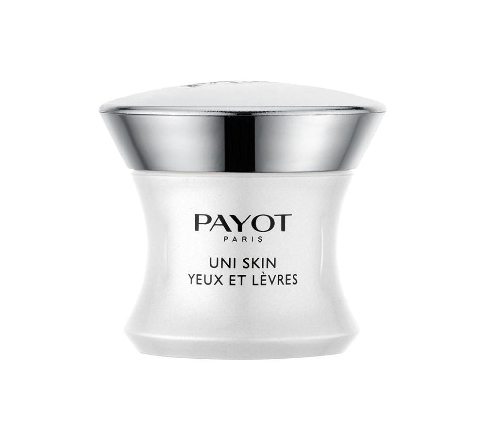 Payot Uni Skin Выравнивающий совершенствующий крем для области вокруг глаз и губ 15 млPayot<br>Крем борется с нарушениями жизнедеятельности клеток, вызывающими изменения тона кожи (пигментные пятна, тусклый цвет лица, пятна от шрамов, покраснения). Возвращает сияние деликатной коже в области вокруг глаз и губ, заметно разглаживая и заполняя морщины. Без отдушек.<br>Способ применения:<br>наносить утром и вечером на область глаз и губ.<br>Состав:<br>AQUA (WATER), DIMETHICONE, SYNTHETIC WAX, BUTYLENE GLYCOL, VINYL DIMETHICONE/METHICONE SILSESQUIOXANE CROSSPOLYMER, LAURYL PEG-9 POLYDIMETHYLSILOXYETHYL DIMETHICONE, ACTINIDIA CHINENSIS (KIWI) FRUIT WATER, SOPHORA FLAVESCENS ROOT EXTRACT, LEPIDIUM SATIVUM SPROUT EXTRACT, CALENDULA OFFICINALIS FLOWER EXTRACT, LECITHIN, TOCOPHERYL ACETATE, GLYCERIN, SYNTHETIC FLUORPHLOGOPITE, DIMETHICONE/PEG-10/15 CROSSPOLYMER, DIPROPYLENE GLYCOL, TOCOPHEROL, ASCORBYL TETRAISOPALMITATE, SODIUM CITRATE, ETHYLHEXYLGLYCERIN, ASCORBIC ACID, SODIUM CHLORIDE, CHLORPHENESIN, ALCOHOL, PHENOXYETHANOL, TIN OXIDE, CI 77891 (TITANIUM DIOXIDE), CI 19140 (YELLOW 5), CI 14700 (RED 4)<br><br>Вес г: 127<br>Бренд : Payot<br>Объем мл: 15<br>Часть лица : глаза, губы<br>Возраст : 18+<br>Вид средства для век : крем<br>По времени суток : дневной уход, ночной уход<br>Страна производитель : Франция