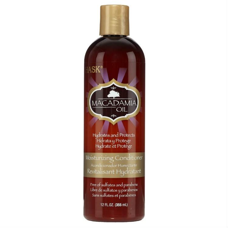 HASK Кондиционер увлажняющий для волос с маслом Макадамии 355млHask<br>Увлажняющий кондиционер с маслом МакадамииНе содержит сульфаты, парабены, фталаты, клейковину (глютен), спирт и искусственные красители.Кондиционер увлажнит самые сухие волосы! Орехи макадами — очень <br>вкусные, и с очень высоким содержанием жира, они очень опасны для вашей <br>талии, но идеально подходят для ваших волос из за высокой концентрации <br>жирных кислот! Кондиционер обогащен антиоксидантами из масла макадамии <br>для питания и увлажнения,  он облегчает расчесывание и удерживает влагу,<br> делая даже самые пересохшие волосы мягкими, шелковистыми и эластичными.<br> Идеально подходит для сухих, поврежденных или окрашенных волос, у <br>кондиционера очень вкусный запах, который обязательно поднимет вам <br>настроение.355 млСпособ применения: Нанесите кондиционер по всей длине на влажные <br>волосы, оставьте на 1-2 минуты. Тщательно смойте. Идеально подходит для <br>ежедневного использования. Для достижения наилучших результатов, <br>используйте с шампунем HASK из этой же серии.<br><br>Вес г: 405<br>Бренд : HASK<br>Объем мл: 355<br>Тип волос : сухие, поврежденные, окрашенные<br>Действие : увлажнение, питание, легкое расчесывание<br>Тип средства для волос : кондиционер<br>Страна производитель : США