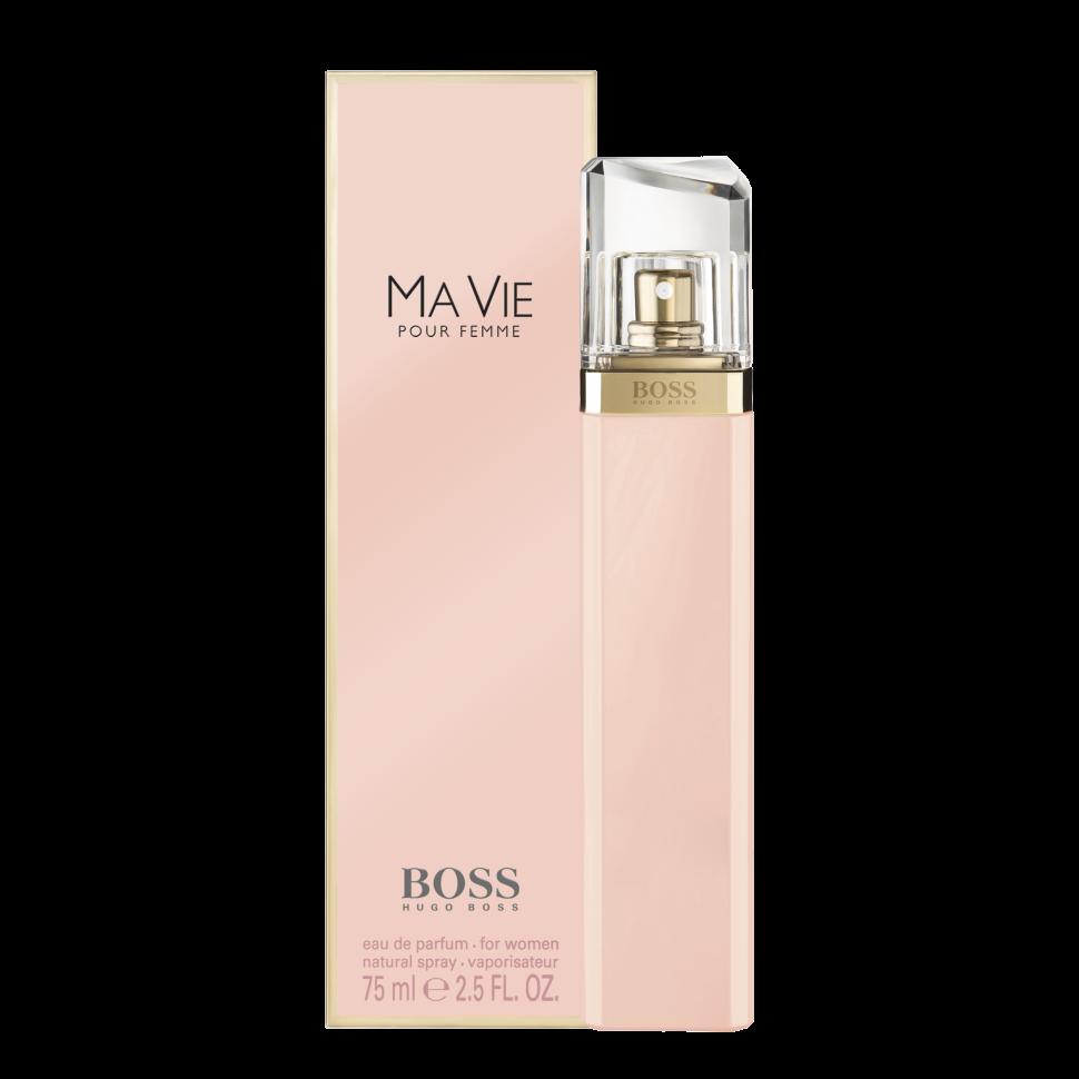 Hugo Boss Ma vie Парфюмированная вода 75 млРуководство по выбору:<br>Дневной и вечерний аромат<br>Описание:<br>Boss Ma vie Pour Femme – красивый женский аромат, продолжающий цветочную коллекцию бренда Hugo Boss. Парфюм 2014 года имеет тот же флакон, что и его предшественники, но окрашен в розовый цвет. Эти духи предназначены для сильных, независимых, современных женщин, находящих возможность насладиться редкими мгновениями жизни – полетом бабочки, запахом цветка или прикосновением теплых лучей солнца к коже. Современность женщины отражают экзотические аккорды цветущего кактуса – ароматные и зеленые одновременно, они несут в себе двойственность – красоту и защищенность. Женственность олицетворяют нежные цветочные ноты – игристой фрезии, чувственного, пьянящего жасмина и трогательных бутонов розы. Ну а независимость отражена в базе парфюма, звучащем хвойными нотами кедра на фоне мягких древесных аккордов.<br>Особенности состава:<br>Цветок куктуса - сильный, женственный, независимый<br>Мнение эксперта:<br>Аромат, отражающий самую суть женщины HUGO BOSS, с независимым характером, дарит умиротворяющее ощущение наслаждаться жизнью во всей ее полноте<br>Состав:<br>Alcohol Denat, Aqua (Water), Partfum (Fragrance), Methyl Cyclodextrin, Ethylhexyl Methoxycinnamate, Diethylamino Hydroxybenzoyl, Hexyl Benzoate, Disodium Edta, Bht, Limonene, Hydroxycitronellal, Linalool, Hydroxyisohexyl 3-Cyclohexene, Carboxaldehyde, Citronellol, Geraniol, Coumarin, Citral, Benzyl Alcohol<br><br>Вес г: 105<br>Бренд : Hugo Boss<br>Объем мл: 75<br>Возраст : 20+<br>Страна производитель : Великобритания<br>Вид Аромата : Цветочные<br>Шлейф : Древесные ноты, Кедр<br>Верхняя Нота : Цветок кактуса<br>Верхняя Нота : Цветок кактуса