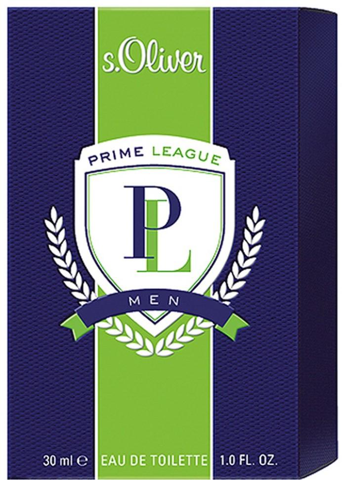 S.Oliver Prime League Men Туалетная вода 30 млАромат s.Oliver PRIME LEAGUE воплощает идеальное сочетание спортивной энергии и классической элегантности,  подчеркивающий командный дух,  целеустремленность, и радость<br>Мнение эксперта:<br>LIFESTYLE<br>Состав:<br>Состав: ALCOHOL, FRAGRANCE (PARFUM), WATER (AQUA), LIMONENE, LINALOOL, BUTYLPHENYL, METHYLPROPIONAL,CITRONELLOL, ALPHA-ISOMETHYL IONONE, ETHYLHEXYL, METHOXYCINNAMATE, BUTYL METHOXYDIBENZOYLMETHANE, ENZYL SALICYLATE, COUMARIN , ETHYLHEXYL SALICYLATE, CITRAL, GERANIOL, EUGENOL, BLUE 1 (CI 42090), RED 33 (CI 17200), BHT<br><br>Вес г: 160<br>Бренд : S.Oliver<br>Объем мл: 30<br>Возраст : 20+<br>Страна производитель : Германия<br>Вид Аромата : фужерный древесный<br>Шлейф : Данные до 16.12<br>Верхняя Нота : бергамот, лайм, кориандр<br>Верхняя Нота : бергамот, лайм, кориандр