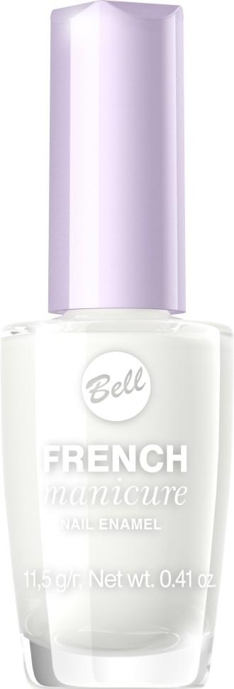 Bell Лак для ногтей устойчивый Гипоаллергенный French Manicure Nail (1 белый)Bell<br>Натуральный элегантный маникюр! French manicure от Bell - это наиболее простой и эффективный способ создания настоящего французского маникюра. Новейшая коллекция включает 12 деликатных оттенков: 6 из них обогащены серебристыми искорками, другие 5 придают ногтям матовый блеск.Руководство по выбору:<br>Для девушек, которые предпочитают маникюр натуральных оттенков, FrenchСпособ применения:<br>Нанести 1 -2 слоя лака, дать высохнуть 10 минут<br>Особенности состава:<br>Пастельные тона для идеального маникюра<br>Состав:<br>Ingredients: Butyl Acetate, Ethyl Acetate, Nitrocellulose, Acetyl Tributyl Citrate, Isopropyl Alcohol, Adipic Acid/Neopentyl Glycol/Trimellitic Anhydride Copolymer, Acrylates Copolymer, Stearalkonium Bentonite, N-Butyl Alcohol, Styrene/Acrylates Copolymer, Benzophenone-1, Silica, Trimethylpentanediyl Dibenzoate, Polyvinyl Butyral [may contain +/- CI 15850 (Red 6 Lake), CI 19140 (Yellow 5 Lake), CI 77266 (Black 2), CI 77491 (Iron Oxides), CI 77510 (Ferric Ferrocyanide), CI 77891 (Titanium Dioxide), Calcium Aluminum Borosilicate, Calcium Sodium Borosilicate, Tin Oxide]<br><br>Вес г: 76<br>Бренд : Bell<br>Объем мл: 12<br>Вид лака : классичекий<br>Эффект на ногтях : французский маникюр<br>Страна производитель : Польша