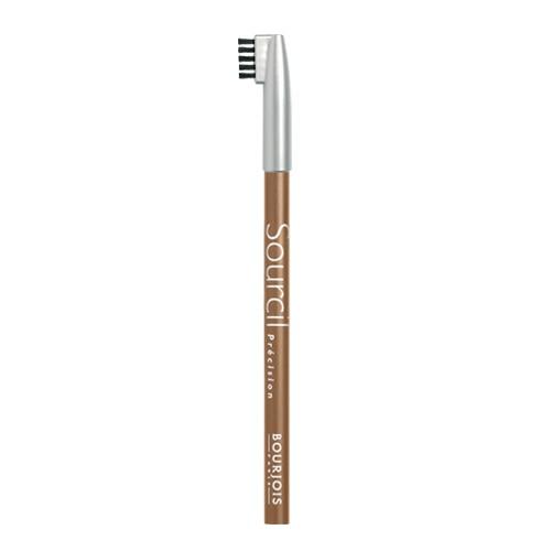 Bourjois Карандаш для бровей с кисточкой Sourcils Precision (06 светло-коричневый)Брови<br>Карандаш для бровей Bourjois Sourcils Precision со специальной щеточкой.Брови играют решающую роль в характере взгляда. Плотная текстура карандаша для бровей Буржуа позволяет наполнить брови красивым, натуральным цветом. Идеальная щеточка придает бровям безупречный вид. <br> Не растекается и позволяет при желании изменить форму брови.<br><br>Вес г: 10<br>Бренд : Bourjois<br>Тип средства для бровей : карнадаш с щеточкой<br>Страна производитель : Италия