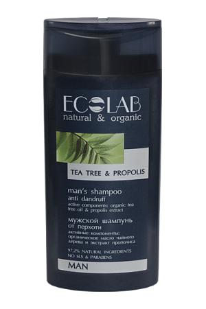 Ecolab Шампунь для волос Против перхотиДля мужчин<br>Он содержит более 97% ингредиентов растительного происхождения. В состав входят органические экстракты и масла. Продукт не содержит SLS, парабенов и силиконов. В производстве использованы только натуральные консерванты и красители.Органическое масло чайного дерева обладает противогрибковым свойством и способно бороться с перхотью, оно успешно убирает шелушение и зуд, делая волосы и кожу головы чистыми и здоровыми.Антимикробное воздействие прополиса помогает предотвратить и устранить перхоть. Растительные смолы, витамины и минеральные соли укрепляют волосы, придают им блеск и эластичность.<br><br>Вес г: 300<br>Бренд: Ecolab<br>Объем мл: 250<br>Страна производитель: Россия