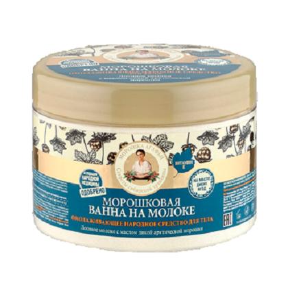 Рецепты Б.Агафьи Ванна для тела на молоке морошковая 500 мл.Рецепты Бабушки Агафьи<br>Морошку в народе величественно называют «молодильная ягода» за её мощные регенерирующие и тонизирующие свойства. Её масло – волшебный эликсир для восстановления красоты и молодости кожи. Морошковая ванна на молоке – это прекрасное омолаживающее средство, созданное по старинному сибирскому рецепту. Она поможет снять усталость и напряжение, сохранить молодость и красоту. Лосиное молоко в 4 раза питательнее коровьего – способствует восстановлению и смягчению кожи. Масло лесной малины интенсивно увлажняет и насыщает кожу витаминами, стимулирует синтез коллагена, делает кожу более упругой и эластичной. Масло дикой арктической морошки, обогащенное антиоксидантами и микроэлементами, стимулирует обновление клеток, придавая коже молодость и тонус.Состав: Moose Milk Powder (сухое лосиное молоко), Sodium Chloride, Organic Rubus Idaeus Seed Oil (органическое масло лесной малины), Rubus Chamaemorus Seed Oil (масло дикой арктической морошки), Tocopheryl Acetate (витамин Е), Parfum.<br><br>Вес г: 550<br>Бренд : Рецепты Б.Агафьи<br>Объем мл: 500<br>Страна производитель : Россия