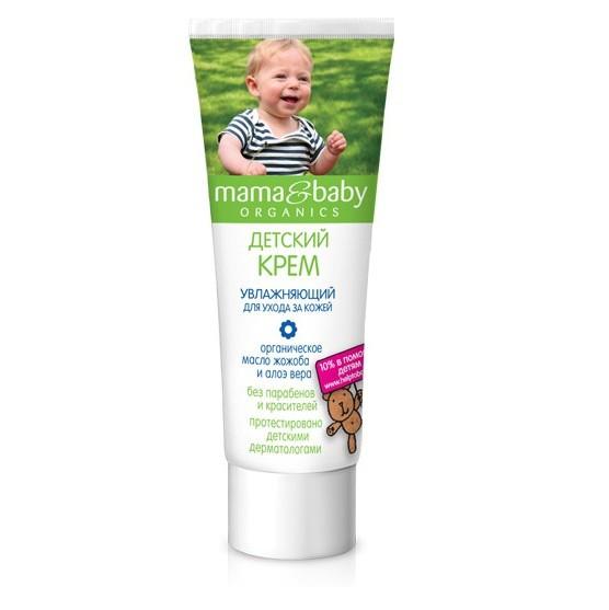 Mama&amp;Baby Крем увлажняющий для ухода за кожей 75 млMama&amp;baby<br>Детский увлажняющий крем Mama&amp;amp;Baby обеспечивает бережный уход за нежной кожей ребенка. Безопасная формула не содержит парабенов и красителей. <br>Органическое масло жожоба питает и защищает кожу, алоэ вера оказывает увлажняющее и заживляющее действие.<br><br>Вес г: 100<br>Бренд : Mama&amp;Babу<br>Объем мл: 75<br>Страна производитель : Россия