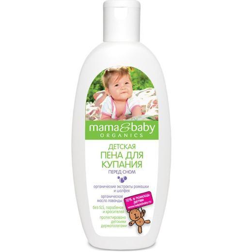 Mama&amp;Baby Пена для купания перед сном 300 мл.Mama&amp;baby<br>Во время вечернего купания детская пена Mama&amp;amp;Baby поможет подготовить Вашего малыша к безмятежному сну. Цветочно - травяной аромат ромашки и шалфея обладает расслабляющим, успокаивающим действием. <br>Органическое масло лаванды питает и смягчает кожу. Безопасная формула не содержит SLS, парабенов и красителей, не щиплет глазки. <br>Купание с Mama&amp;amp;Baby – это весело и полезно!<br><br>Вес г: 350<br>Бренд : Mama&amp;Babу<br>Объем мл: 300<br>Страна производитель : Россия