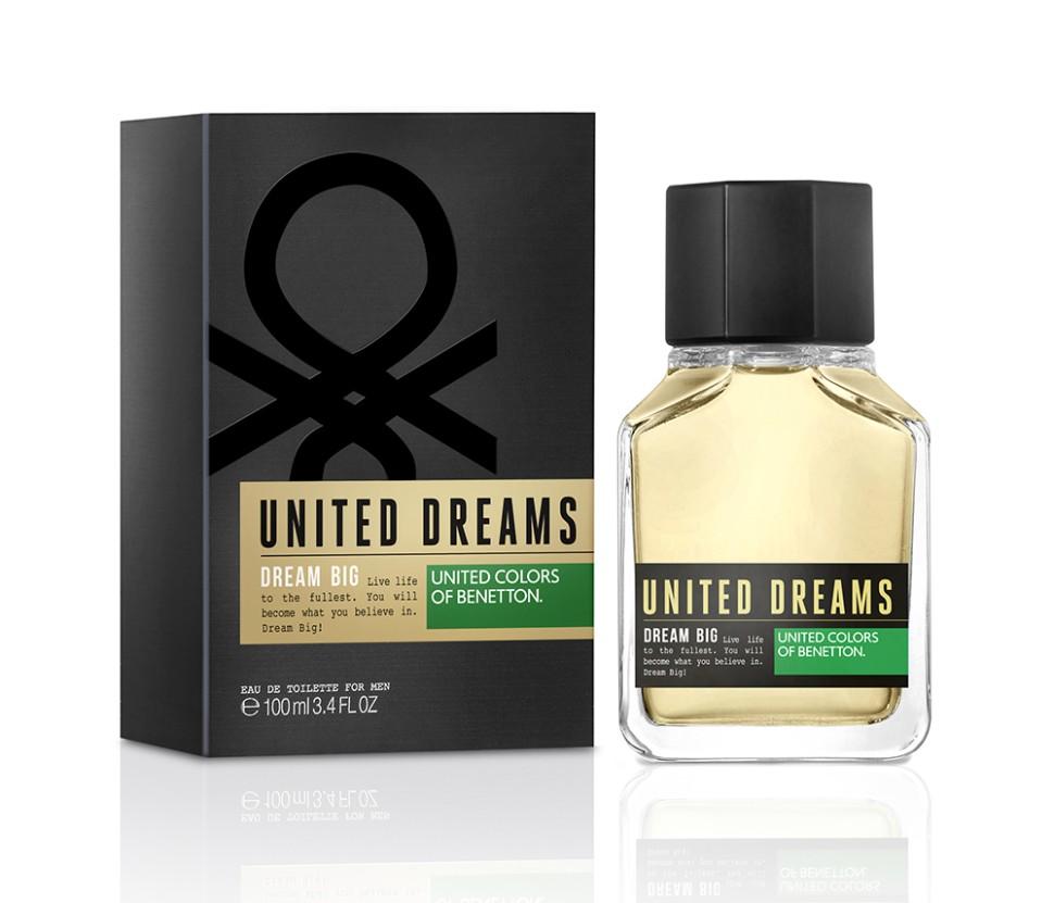 Benetton Dream Big men Туалетная вода 100 млBenetton<br>Энергия революции мечтателей, начавшаяся с коллекции UNITED DREAMS, достигает своей кульминации с появлением аромата DREAM BIG, ставшего женственной, чувственной и яркой коммуникацией от бренда в сопровождении вдохновляющего пожелания «СЧАСТЛИВЫХ НОВЫХ МЕЧТАНИЙ». Оптимистичное и позитивное послание от бренда UNITED COLORS OF BENETTON для всех мечтателей, верящих в то, что мечты могут изменить мир.<br>Особенности состава:<br>Лаванда и Лабданум создают дерзкий и провоцирующий нюанс<br>Мнение эксперта:<br>Аркий и творческий аромат для мечтателейСпособ применения:<br>Нанести на кожу, избегая попадания в глаза.<br>Состав:<br>ALCOHOL DENAT., PARFUM (FRAGRANCE), AQUA (WATER), LIMONENE, LINALOOL, COUMARIN, GERANIOL, HYDROXYISOHEXYL 3-CYCLOHEXENE CARBOXALDEHYDE, BUTYLPHENYL METHYLPROPIONAL, CITRAT, BENZYL ALCOHOL,CI 60730 (EXT. VIOLET 2) , CI 19140 (YELLOW5), CI 14700 (RED 4), ALPHA-ISOMETHYL IONONE ALCOHOL OF VEGETAL ORIGIN<br><br>Вес г: 119<br>Бренд : Benetton<br>Объем мл: 100<br>Возраст : 14+<br>Страна производитель : Испания<br>Вид Аромата : Пряный древесный<br>Шлейф : Пралине, Дерево, Тонка бобы Ванили, Лабданум<br>Верхняя Нота : Бергамот, Лимон, Кардамон, Корица,<br>Верхняя Нота : Бергамот, Лимон, Кардамон, Корица,
