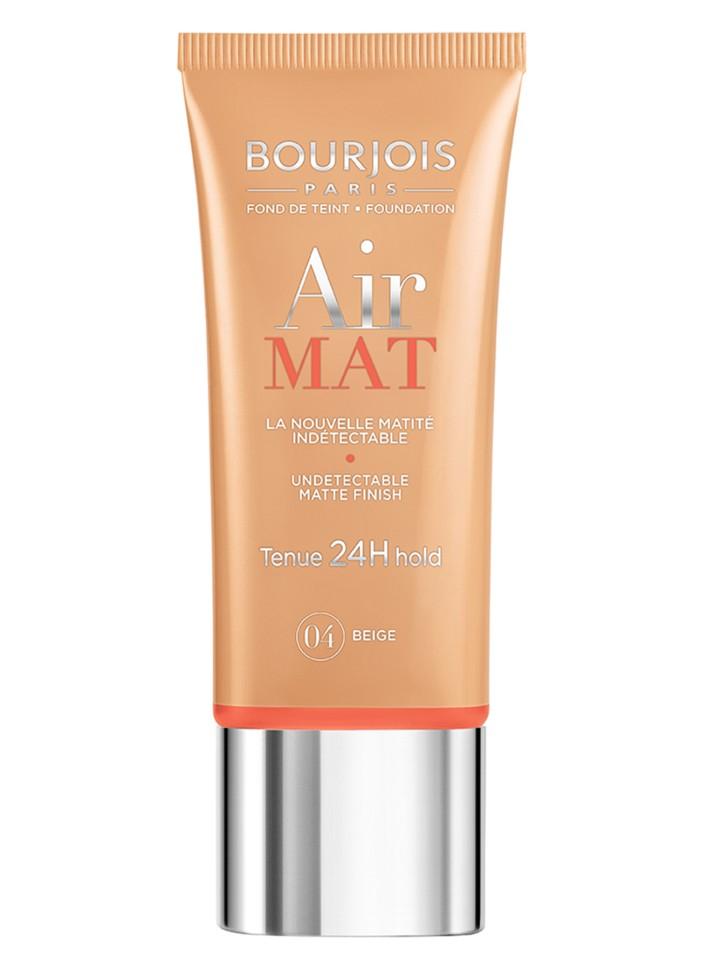 Bourjois Крем тональный для лица Air Mat-Found De Teint (04 beige)Bourjois<br>Матирование и стойкость 24 часа, скрывает несовершенства без эффекта маски, матирует излишний блеск на коже, сохраняя при этом сияние кожи, инновационные инкапсулированные пигменты обеспечивают свежий и естественный тон, невесомая текстура превращается в легкую вуаль невероятной стойкости и равномерно распределяется, фильтр SPF 10.<br>Состав:<br>AQUA (WATER),DIMETHICONE,CYCLOPENTASILOXANE,METHYL METHACRYLATE CROSSPOLYMER, CAPRYLYL METHICONE,PROPYLENE GLYCOL,PEG/PPG-18/18 DIMETHICONE,ALUMINUM STARCH OCTENYLSUCCINATE,SODIUM CHLORIDE,ISONONYL ISONONANOATE,PEG-10 DIMETHICONE, ZINC PCA,SILICA,PHENOXYETHANOL,TOCOPHERYL ACETATE,DISTEARDIMONIUM HECTORITE, LYSOLECITHIN,CHLORPHENESIN,PARFUM (FRAGRANCE),DIMETHICONE CROSSPOLYMER, PEG/PPG-19/19 DIMETHICONE,CASSIA ANGUSTIFOLIA SEED POLYSACCHARIDE,ALCOHOL DENAT., LAUROYL LYSINE,DISODIUM EDTA<br><br>Вес г: 75<br>Бренд : Bourjois<br>Объем мл: 30<br>Упаковка : тюбик<br>Тип кожи : все типы кожи<br>Степень покрытия : легкая<br>Эффект от нанесения : матирующий<br>Тип тонального средства : крем<br>Фактор SPF : 10<br>Страна производитель : Франция