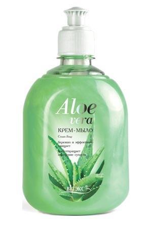 Витэкс Крем-мыло жидкое с АлоэВитэкс<br>Крем- мыло<br>Мягкое крем — мыло эффективно и деликатно очищает кожу от загрязнений. Содержит сок Алоэ, который интенсивно увлажняет, питает, смягчает и защищает кожу от сухости и раздражений, возникающих при частом контакте с водой. Результат: безупречно чистая кожа.<br>Назначение: Очищение, Все типы кожиЛиния: Алоэ Вера<br><br>Вес кг: 600<br>Бренд : Витэкс<br>Объем мл: 550<br>Страна производитель : Белоруссия