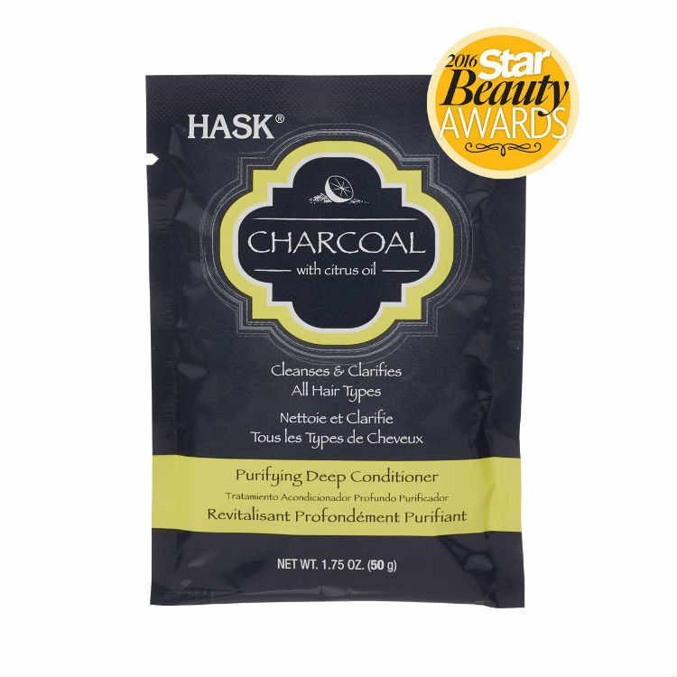HASK Маска очищающая для волос с Углем и Цитрусовым маслом 50грHask<br>Очищающая маска для волос с углем и цитрусовым масломНе содержит сульфаты, парабены, фталаты, клейковину (глютен), спирт и искусственные красители.Маска для глубокого очищения с увлажнением, маска подходит для <br>питания и смягчения всех типов волос (в том числе окрашенных волос). <br>Уголь, полученный из кокосовой скорлупы, в сочетании с цитрусовым <br>маслом, абсорбирует загрязнения и помогает восстановить волосы в <br>естественном сиянии.Рекомендации по применению: Нанести достаточное количество  для <br>глубокого очищения на влажные волосы. Массирующими движениями вотрите <br>масло в волосы, делая упор на поврежденные участки. Оставьте впитываться<br> на 10 минут, затем тщательно смойте. Идеально подходит для <br>использования 1-2 раза в неделю.<br><br>Вес г: 50<br>Бренд : HASK<br>Тип волос : все типы волос<br>Действие : увлажнение, питание, глубокое очищение<br>Тип средства для волос : маска<br>Страна производитель : США