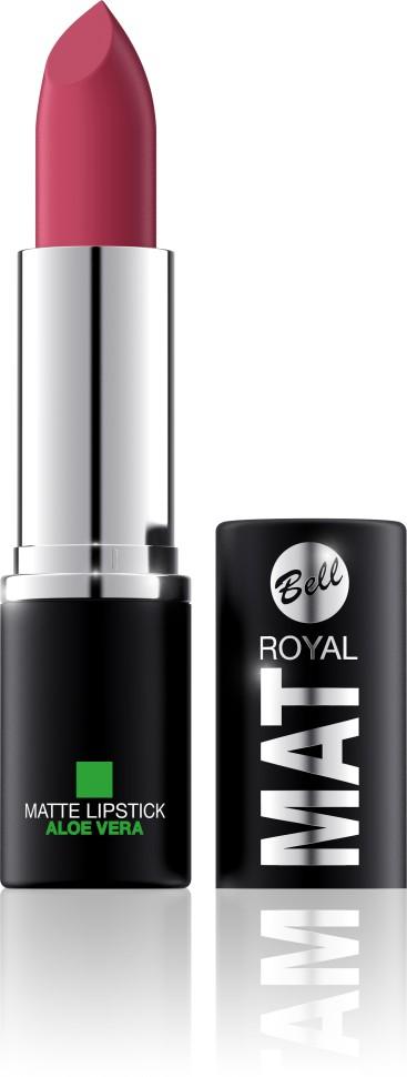 Bell Помада губная матовая с алоэ вера Royal Mat Lipstick (4 светло-коричневый)Bell<br>Помада создает матовую поверхность и максимальную насыщенность цвета. Аппликация помады является исключительно нежной и легкой, создавая при этом матовый эффект. Формула, содержащая регенерирующие компоненты алоэ дополнительно питает и ухаживает за губами. Благодаря высокому содержанию пигментов и стойкой формуле помада держится на губах долгое время.<br>Руководство по выбору:<br>Для матового эффекта и увлажнения губСпособ применения:<br>Нанести на губы по контуруОсобенности состава:<br>Формула, содержащая регенерирующие компоненты алоэ дополнительно питает и ухаживает за губами. Благодаря высокому содержанию пигментов и стойкой формуле помада держится на губах долгое время.<br>Состав:<br>Ingredients: Ricinus Communis (Castor) Seed Oil, Isononyl Isononanoate, Caprylic/Capric Triglyceride, Aluminum Starch Octenylsuccinate, VP/Hexadecene Copolymer, Ozokerite, Candelilla Cera (Euphorbia Cerifera (Candelilla) Wax), Ethylhexyl Palmitate, Cera Microcristallina (Microcrystalline Wax), Copernicia Cerifera Cera (Copernicia Cerifera (Carnauba) Wax), Octyldodecanol, Octyldodecyl Stearate, Isopropyl Palmitate, Aloe Barbadensis Leaf Extract, Paraffinum Liquidum (Mineral Oil), Glyceryl Caprylate, BHT, Parfum (Fragrance), Benzyl Alcohol, Hexyl Cinnamal, Linalool [may contain +/- CI 15850 (Red 6 Lake, Red 7 Lake), CI 42090 (Blue 1 Lake), CI 45410 (Red 27 Lake), CI 77491, CI 77492, CI 77499 (Iron Oxides), CI 77891 (Titanium Dioxide)]<br><br>Вес г: 47<br>Бренд : Bell<br>Объем мл: 4<br>Упаковка помады : футляр (выдвижная)<br>Текстура помады : матовая<br>Свойства помады : увлажняющая<br>Вид помады : классическая<br>Страна производитель : Польша