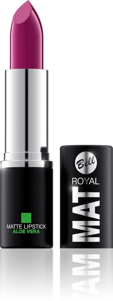 Bell Помада губная матовая с алоэ вера Royal Mat Lipstick (15 сиреневый)Bell<br>Помада создает матовую поверхность и максимальную насыщенность цвета. Аппликация помады является исключительно нежной и легкой, создавая при этом матовый эффект. Формула, содержащая регенерирующие компоненты алоэ дополнительно питает и ухаживает за губами. Благодаря высокому содержанию пигментов и стойкой формуле помада держится на губах долгое время.<br>Руководство по выбору:<br>Для матового эффекта и увлажнения губСпособ применения:<br>Нанести на губы по контуруОсобенности состава:<br>Формула, содержащая регенерирующие компоненты алоэ дополнительно питает и ухаживает за губами. Благодаря высокому содержанию пигментов и стойкой формуле помада держится на губах долгое время.<br>Состав:<br>Ingredients: Ricinus Communis (Castor) Seed Oil, Isononyl Isononanoate, Caprylic/Capric Triglyceride, Aluminum Starch Octenylsuccinate, VP/Hexadecene Copolymer, Ozokerite, Candelilla Cera (Euphorbia Cerifera (Candelilla) Wax), Ethylhexyl Palmitate, Cera Microcristallina (Microcrystalline Wax), Copernicia Cerifera Cera (Copernicia Cerifera (Carnauba) Wax), Octyldodecanol, Octyldodecyl Stearate, Isopropyl Palmitate, Aloe Barbadensis Leaf Extract, Paraffinum Liquidum (Mineral Oil), Glyceryl Caprylate, BHT, Parfum (Fragrance), Benzyl Alcohol, Hexyl Cinnamal, Linalool [may contain +/- CI 15850 (Red 6 Lake, Red 7 Lake), CI 42090 (Blue 1 Lake), CI 45410 (Red 27 Lake), CI 77491, CI 77492, CI 77499 (Iron Oxides), CI 77891 (Titanium Dioxide)]<br><br>Вес г: 47<br>Бренд : Bell<br>Объем мл: 4<br>Упаковка помады : футляр (выдвижная)<br>Текстура помады : матовая<br>Свойства помады : увлажняющая<br>Вид помады : классическая<br>Страна производитель : Польша