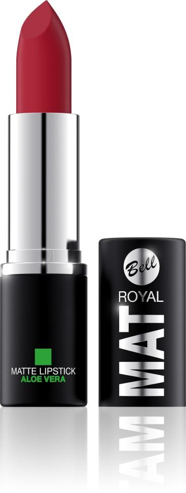 Bell Помада губная матовая с алоэ вера Royal Mat Lipstick (25 бордовый)Bell<br>Помада создает матовую поверхность и максимальную насыщенность цвета. Аппликация помады является исключительно нежной и легкой, создавая при этом матовый эффект. Формула, содержащая регенерирующие компоненты алоэ дополнительно питает и ухаживает за губами. Благодаря высокому содержанию пигментов и стойкой формуле помада держится на губах долгое время.<br>Руководство по выбору:<br>Для матового эффекта и увлажнения губСпособ применения:<br>Нанести на губы по контуруОсобенности состава:<br>Формула, содержащая регенерирующие компоненты алоэ дополнительно питает и ухаживает за губами. Благодаря высокому содержанию пигментов и стойкой формуле помада держится на губах долгое время.<br>Состав:<br>Ingredients: Ricinus Communis (Castor) Seed Oil, Isononyl Isononanoate, Caprylic/Capric Triglyceride, Aluminum Starch Octenylsuccinate, VP/Hexadecene Copolymer, Ozokerite, Candelilla Cera (Euphorbia Cerifera (Candelilla) Wax), Ethylhexyl Palmitate, Cera Microcristallina (Microcrystalline Wax), Copernicia Cerifera Cera (Copernicia Cerifera (Carnauba) Wax), Octyldodecanol, Octyldodecyl Stearate, Isopropyl Palmitate, Aloe Barbadensis Leaf Extract, Paraffinum Liquidum (Mineral Oil), Glyceryl Caprylate, BHT, Parfum (Fragrance), Benzyl Alcohol, Hexyl Cinnamal, Linalool [may contain +/- CI 15850 (Red 6 Lake, Red 7 Lake), CI 42090 (Blue 1 Lake), CI 45410 (Red 27 Lake), CI 77491, CI 77492, CI 77499 (Iron Oxides), CI 77891 (Titanium Dioxide)]<br><br>Вес г: 47<br>Бренд : Bell<br>Объем мл: 4<br>Упаковка помады : футляр (выдвижная)<br>Текстура помады : матовая<br>Свойства помады : увлажняющая<br>Вид помады : классическая<br>Страна производитель : Польша