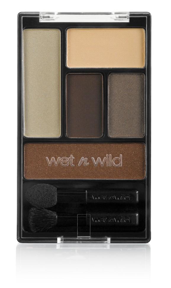 Wet n Wild Тени для век Набор (5 Тонов) Color Icon Eye Shadow Palette (E3951 the naked truth)Wet n Wild<br>Потрясающая коллекция из 5 шелковистых, ультра-пигментированных цветов.Способ применения:<br>аккуратно нанести на веки специальной кисточкой<br>Состав:<br>Talc, Nylon-12, Boron Nitride, Ethyl Macadamiate, Magnesium Stearate, Dimethicone, Caprylic/Capric Triglyceride, Polybutene, Caprylyl Glycol, Calcium Sodium Borosilicate, Caprylhydroxamic Acid, Glycerin, Macadamia Integrifolia Seed Oil, Tocopherol, Methicone, Hydrogenated Polyisobutene, Dimethicone/Methicone Copolymer, Palmitic Acid, [+/- (MAY CONTAIN): Aluminum Powder/CI 77000, Black 2/CI 77266, Blue 1 Lake/CI 42090, Carmine/CI 75470, Ferric Ammonium Ferrocyanide/CI 77510, Ferric Ferrocyanide/CI 77510, Iron Oxides/CI 77491, CI 77492, CI 77499, Manganese Violet/CI 77742, Mica, Red 40 Lake/CI 16035, Titanium Dioxide/CI 77891, Ultramarines/CI 77007, Yellow 5 Lake/CI 19140<br><br>Вес г: 68<br>Бренд : Wet&amp;Wild<br>В комплекте : аппликатор<br>Способ нанесения : влажный<br>Эффект на веках : мерцающий<br>Тип теней : палитра теней<br>Страна производитель : Китай
