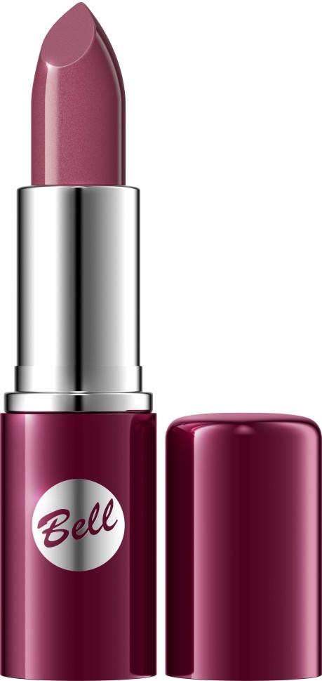 Bell Помада для губ Lipstick Classic (103 фиолетовый)Bell<br>Чтобы выглядеть сверхэлегантной, попробуйте помаду, которая придаст идеальную форму Вашим губам, окрашивая их в чистый, атласный и блестящий цвет. Формула, обогащенная питательными веществами и витаминами, подчеркнет аппетитность Ваших губ, одновременно увлажняя и защищая их. Мягкая и бархатная текстура помады обеспечивает легкое скольжение, устойчивый пигмент сохраняет цвет на губах длительное время. Вы ощутите и увидите Ваши губы ухоженными и соблазнительными. Роскошная палитра из 30 тонов: от классических до супермодных для любого случая и настроения.<br>Руководство по выбору:<br>Чтобы выглядеть сверхэлегантной, попробуйте помаду, которая придаст идеальную форму Вашим губам, окрашивая их в чистый, атласный и блестящий цвет.Способ применения:<br>Нанести на губы по контуруОсобенности состава:<br>Формула, обогащенная питательными веществами и витаминами, подчеркнет аппетитность Ваших губ, одновременно увлажняя и защищая их.<br>Состав:<br>Ingredients: Octyldodecanol, Ricinus Communis Seed Oil, Cera Microcristallina, Petrolatum, Lanolin, Copernicia Cerifera Cera, Isopropyl Palmitate, Aloe Barbadensis Leaf Extract, Tocopherol, Linoleic Acid, Linolenic Acid, Oleic Acid, Paraffinum Liquidum, Ascorbyl Palmitate, Ascorbic Acid, PEG-8, Citric Acid, Methylparaben, Propylparaben, BHA, BHT, Parfum, Geraniol, Hexyl Cinnamal, Limonene, Linalool, [+/- CI 15850, CI 19140, CI 45380, CI 45410, CI 45430, CI 73360, CI 75470, CI 77007, CI 77491, CI 77492, CI 77499, CI 77742, CI 77891, Calcium Aluminum Borosilicate, Mica, Silica, Tin Oxide]<br><br>Вес г: 46<br>Бренд : Bell<br>Объем мл: 5<br>Упаковка помады : футляр (выдвижная)<br>Текстура помады : глянцевая<br>Свойства помады : увлажняющая<br>Вид помады : классическая<br>Страна производитель : Польша