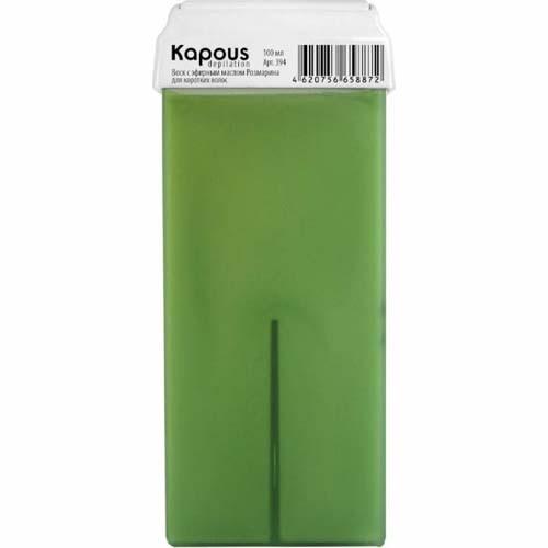 Kapous Жирорастворимый воск с эфирным маслом Корицы в картридже, 100 млKapous<br>Kapous Professional - Жирорастворимый воск С эфирным маслом Корицы широкий ролик (100 мл).Обладает антисептическими и антиаллергическими свойствами.Имеет приятный аромат масла Корицы, легко удаляется с кожи.Восстанавливает тепловой баланс и тургор чувствительной кожи.Не раздражает кожу и помогает избавиться от нежелательных волос разной толщины и длины.Температура плавления воска 55-60 градусов.Подходит для всех возрастных категорий.Обеспечивает идеальное удаление всех типов волос.Воск не меняет свои характеристики в различные сезоны года.Состав:- натуральная смола.- масло Корицы.- натуральный пчелиный воск.Способ применения:- вставить картридж с воском в аппарат и через 10-15 мин воск будет разогрет.- слегка прижимая, наносим воск на поверхность кожи аккуратно, по направлению роста волос.- на образовавшуюся пленку воска накладываем бумагу для депиляции и слегка прижимаем ладонью.- когда воск остынет, резким движением срываем наложенную бумагу против роста волос.<br><br>Вес г: 150<br>Бренд: Kapous<br>Объем мл: 100<br>Тип кожи: все типы кожи<br>Тип средства для депиляции: воск в картридже, воск