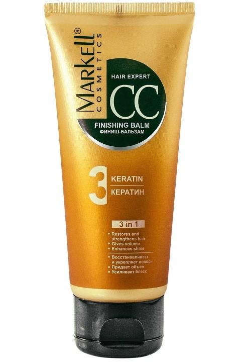 Markell Финиш-бальзам КератинMarkell<br>Действует как «заплатка», восстанавливая поврежденные волосы, придает им блеск, эластичность и гладкость. Обеспечивает термозащиту во время укладки и восстанавливает волосы после окрашивания и химической завивки. Помогает справиться с непослушными и вьющимися волосами, кондиционирует их, облегчает расчесывание. Пантенол питает и укрепляет волосы по всей длине, увлажняет и регулирует гидробаланс кожи головы. Экстракт сахарного тростника и корки лимона увеличивает блеск и гладкость волос.Применение: нанести на чистые влажные волосы, распределить по всей длине, через 3-5 мин смыть теплой водой.<br><br>Вес г: 150<br>Бренд : Markell<br>Объем мл: 100<br>Тип волос : поврежденные, вьющиеся<br>Действие : увлажнение, питание, укрепление, восстановление, для объема, легкое расчесывание, блеск и эластичность, разглаживание, термозащита<br>Тип средства для волос : бальзам<br>Страна производитель : Белоруссия