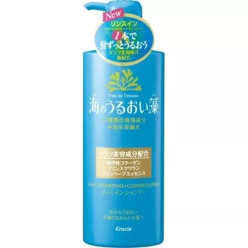 KANEBO S&amp;M Шампунь 2в1 увлажнение с экстрактом морских водорослей 520мл с дозаторомKANEBO<br>В составе этого ухаживающего за волосами продукта содержится большое количество красных, зеленых и бурых водорослей, а также протеины и аминокислоты. Их взаимодействие с каждым днем улучшают структуру волоса, делая его более гладким и эластичным. Помимо этого в составе шампуня присутствуют морские минералы, которые увлажняют и создают  кондиционирующий эффект. <br>Преимущество этого шампуня заключается в том, что к нему идет сменный блок. Это позволит экономно и эффективно ухаживать за волосами, делая их шелковистыми и мягкими.<br><br>Вес г: 535<br>Бренд : Kanebo<br>Объем мл: 500<br>Тип волос : все типы волос<br>Действие : увлажнение, разглаживание<br>Тип средства для волос : шампунь<br>Страна производитель : Япония