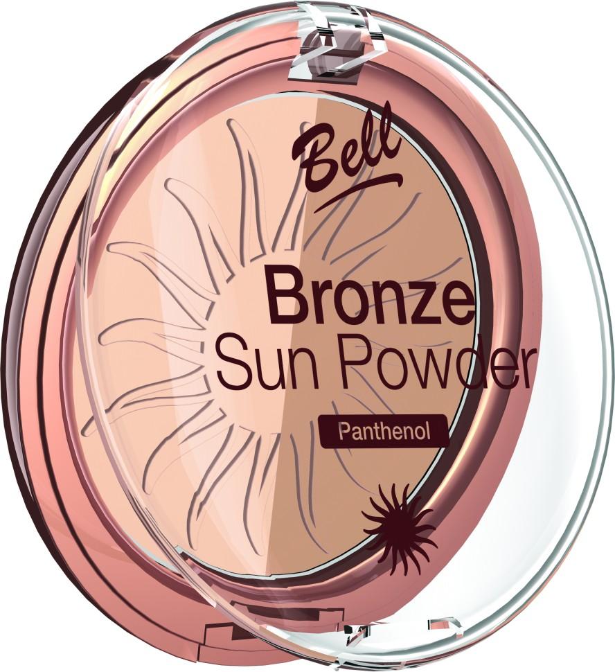 Bell Пудра бронзирующая с пантенолом Bronze Sun Powder Panthenol (22 коричневый)Bell<br>Пудра бронзирующая Bronze Sun Power придаст Вашей коже теплый, естественный оттенок загара. Идеально подходит для всех типов кожи. Пантенол, входящий в состав пудры оказывает мягкое, успокаивающее воздействие на кожу. Благодаря особой формуле пудра поглощает избыточную влагу, придавая коже ровный матовый оттенок. Бархатная текстура пудры обеспечивает легкое и равномерное нанесение.<br>Руководство по выбору:<br>Для придания коже естественного оттенка загараСпособ применения:<br>Нанести с помощью кисти на лицо. Тёмным оттенком можно затемнить скулы, височные области.Особенности состава:<br>Пантенол, входящий в состав пудры оказывает мягкое, успокаивающее воздействие на кожу. Благодаря особой формуле пудра поглощает избыточную влагу, придавая коже ровный матовый оттенок.<br>Состав:<br>Ingredients: Talc, Mica, Aluminum Starch Octenylsuccinate, Isocetyl Stearoyl Stearate, Octyldodecyl Stearate, Methyl Methacrylate Crosspolymer, Kaolin, Panthenol, Propylene Glycol, PEG-8, Tocopherol, Ascorbyl Palmitate, Ascorbic Acid, Citric Acid, Methylparaben, Propylparaben [+/- CI 77891, CI 77491, CI 77492, CI 77499, Silica]<br><br>Вес г: 75<br>Бренд : Bell<br>Объем мл: 9<br>Эффект покрытия : оттенок загара<br>Тип пудры : компактная<br>Зеркало : Нет<br>Страна производитель : Польша