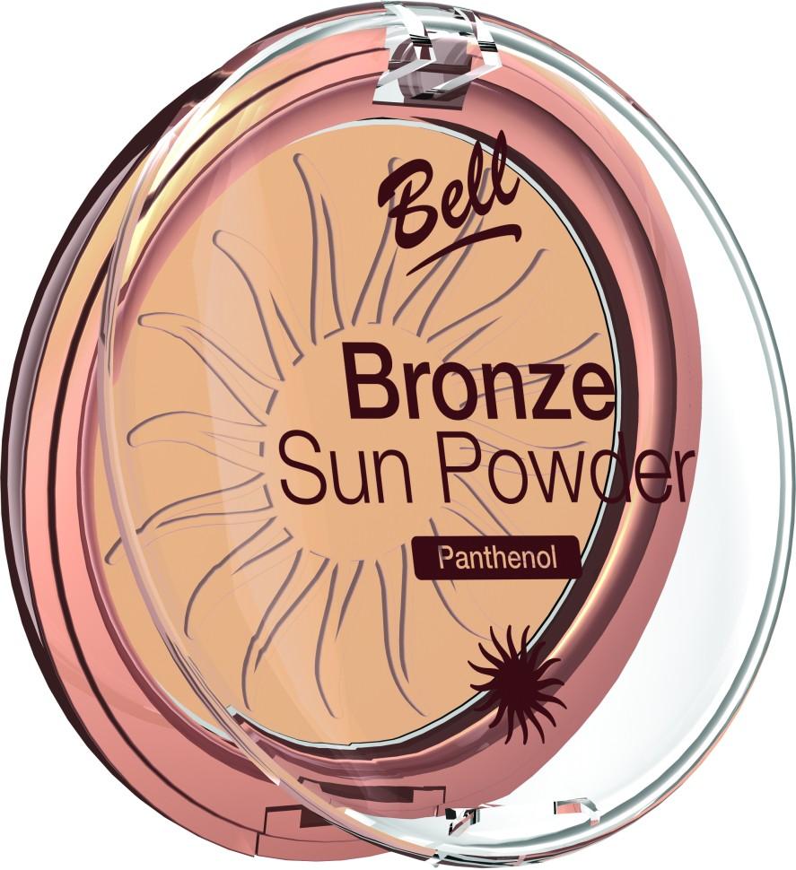 Bell Пудра бронзирующая с пантенолом Bronze Sun Powder Panthenol (23 светло-бежевый)Bell<br>Пудра бронзирующая Bronze Sun Power придаст Вашей коже теплый, естественный оттенок загара. Идеально подходит для всех типов кожи. Пантенол, входящий в состав пудры оказывает мягкое, успокаивающее воздействие на кожу. Благодаря особой формуле пудра поглощает избыточную влагу, придавая коже ровный матовый оттенок. Бархатная текстура пудры обеспечивает легкое и равномерное нанесение.<br>Руководство по выбору:<br>Для придания коже естественного оттенка загараСпособ применения:<br>Нанести с помощью кисти на лицо. Тёмным оттенком можно затемнить скулы, височные области.Особенности состава:<br>Пантенол, входящий в состав пудры оказывает мягкое, успокаивающее воздействие на кожу. Благодаря особой формуле пудра поглощает избыточную влагу, придавая коже ровный матовый оттенок.<br>Состав:<br>Ingredients: Talc, Mica, Aluminum Starch Octenylsuccinate, Isocetyl Stearoyl Stearate, Octyldodecyl Stearate, Methyl Methacrylate Crosspolymer, Kaolin, Panthenol, Propylene Glycol, PEG-8, Tocopherol, Ascorbyl Palmitate, Ascorbic Acid, Citric Acid, Methylparaben, Propylparaben [+/- CI 77891, CI 77491, CI 77492, CI 77499, Silica]<br><br>Вес г: 75<br>Бренд : Bell<br>Объем мл: 9<br>Эффект покрытия : оттенок загара<br>Тип пудры : компактная<br>Зеркало : Нет<br>Страна производитель : Польша