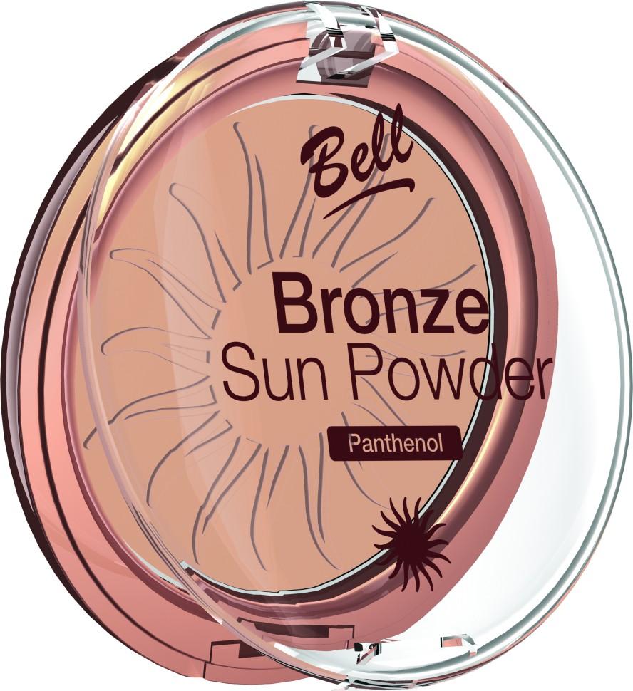 Bell Пудра бронзирующая с пантенолом Bronze Sun Powder Panthenol (25 коричневый)Bell<br>Пудра бронзирующая Bronze Sun Power придаст Вашей коже теплый, естественный оттенок загара. Идеально подходит для всех типов кожи. Пантенол, входящий в состав пудры оказывает мягкое, успокаивающее воздействие на кожу. Благодаря особой формуле пудра поглощает избыточную влагу, придавая коже ровный матовый оттенок. Бархатная текстура пудры обеспечивает легкое и равномерное нанесение.<br>Руководство по выбору:<br>Для придания коже естественного оттенка загараСпособ применения:<br>Нанести с помощью кисти на лицо. Тёмным оттенком можно затемнить скулы, височные области.Особенности состава:<br>Пантенол, входящий в состав пудры оказывает мягкое, успокаивающее воздействие на кожу. Благодаря особой формуле пудра поглощает избыточную влагу, придавая коже ровный матовый оттенок.<br>Состав:<br>Ingredients: Talc, Mica, Aluminum Starch Octenylsuccinate, Isocetyl Stearoyl Stearate, Octyldodecyl Stearate, Methyl Methacrylate Crosspolymer, Kaolin, Panthenol, Propylene Glycol, PEG-8, Tocopherol, Ascorbyl Palmitate, Ascorbic Acid, Citric Acid, Methylparaben, Propylparaben [+/- CI 77891, CI 77491, CI 77492, CI 77499, Silica]<br><br>Вес г: 75<br>Бренд : Bell<br>Объем мл: 9<br>Эффект покрытия : оттенок загара<br>Тип пудры : компактная<br>Зеркало : Нет<br>Страна производитель : Польша