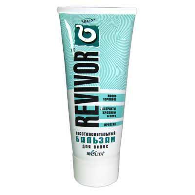 Белита Revivor бальзам восстановительный для волос (200 мл)Белита<br>Идеальное средство для ухода за волосами после химической завивки, обесцвечивания и окраски волос.<br>Восстанавливает кератиновую структуру волос, придает волосам эластичность, ослепительный блеск и обеспечивает расчесывание.<br><br>Вес г: 250<br>Бренд : Белита<br>Объем мл: 450<br>Тип волос : поврежденные<br>Действие : блеск и эластичность<br>Тип средства для волос : бальзам<br>Страна производитель : Белоруссия