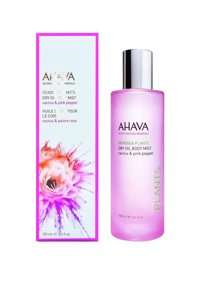Ahava Deadsea Plants Сухое масло для тела кактус и розовый перец 100 млAhava<br>Сверхлегкий, ультра-увлажняющий уход за телом в форме чувственного  сухого масла-спрея для тела. Сверкающая смесь питательных масел для ухода за телом, возвращающая  коже гладкость, упругость, роскошную мягкость и здоровый блеск ... с шеи до ногУникальный возбуждающий и очаровывающий микс ароматов розового перца и кактуса делает этот продукт очень женственным, обеспечивает удовольствие от ухода и является незаменимым для любой женщиныЯвляясь единственной косметической компанией, расположенной на берегу Мертвого моря, цель и задача AHAVA состоит в том, чтобы предоставить достоинства Мертвого моря путем использования своих самых необычных ингредиентов и создания инновационных и эффективных продуктов для потребителей во всем мире.Способ применения:<br>После душа распылить на влажную/ сухую кожу, для быстрого впитывания. <br>Особенности состава:<br>*Вся продукция не содержит парабены*Вся очищающие средства не содержат SLS / SLES (лаурет сульфат натрия). *Не содержит продуктов нефтепереработки, агрессивных синтетических ингредиентов и ГМО*Вся продукция гипоаллергена и опробована на чувствительной кожи.*Не тестируется на животных*Вся упаковка подлежит вторичной переработке*Вся продукция содержит формулу Osmoter™Состав:<br>Ethylhexyl Palmitate, Isohexadecane, Cyclomethicone, Parfum (Fragrance), Simmondsia Chinensis (Jojoba) Seed Oil, Sesamum Indicum (Sesame) Seed Oil, Tocopherol (Vitamin E), Dunaliella Salina Extract, Hydrogenated Polydecene, Butylphenyl Methylpropional, Hydroxycitronellal, Limonene<br><br>Вес г: 300<br>Бренд : Ahava<br>Объем мл: 100<br>Возраст : 12+<br>Страна производитель : Израиль