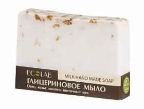 Ecolab Мыло глицериновое МолочноеДля тела<br>Красивое мыло ручной работы глицериновое Молочное.<br>Неповторимый запах вкусного молочно-медового лакомства и ваша кожа ощутит блаженство под душем, входящие в состав масла питают и увлажняют кожу.  <br>Активные ингредиенты: овес, козье молоко, цветочный мед.<br>Продукт не содержит парабенов и силиконов.<br>Способ применения: вспенить мыло, нанести на влажную кожу, помассировать, смыть.Вес: 130гр.<br><br>Вес г: 130<br>Бренд : Ecolab<br>Страна производитель : Россия