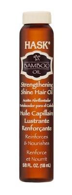 HASK Масло укрепляющее для волос и придания блеска с маслом Бамбука 18млHask<br>Это легкое масло без содержания спирта мгновенно впитывается и наполняет волосы сиянием, не оставляя жирного блеска. Бамбуковое масло помогает укрепить волосы и предотвратить появление секущихся кончиков, волосы становятся более сильными и здоровыми.Способ применения:Можно использовать как на мокрые, так и на сухие волосы. Небольшое количество масла равномерно нанесите на волосы, избегая прикорневой зоны. Продолжите свою обычную укладку. Для достижения наилучшего результата используйте вместе с другими продуктами марки HASK.<br><br>Вес г: 68<br>Бренд : HASK<br>Объем мл: 18<br>Действие : укрепление, блеск и эластичность<br>Тип средства для волос : масло<br>Страна производитель : США
