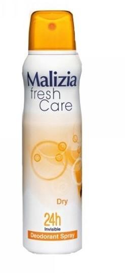 MALIZIA Део-антиперсперант женский DRYMalizia<br>Нежный и волнующий аромат  обеспечивает настоящую защит от запаха пота в течение всего дня. Длительная защита от пота и запаха. Не наносить на раздраженную или поврежденную кожу. Состав: пропелента 40%. Озоноразрушающие вещества отсуствуют. Содержание этилового спирта - 54,9%.<br><br>Вес г: 180<br>Бренд : Malizia<br>Объем мл: 150<br>Тип дезодоранта : спрей<br>Страна производитель : Италия