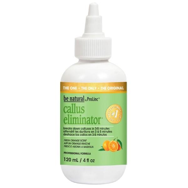 BE NATURAL Средство для удаления натоптышей с запахом апельсина 120млBe Natural<br>Средство Callus Eliminator разработано под наблюдением дерматологов, подходит для не обрезного и комбинированного педикюра. Высокая концентрация препарата позволяет максимально быстро, за 3-5 минут решить проблему огрубевшей кожи и мозолей, не высушивает кожу, абсолютно безопасен. Воздействует только на ороговевший слой, не травмируя живые клетки эпидермиса.<br><br>Вес г: 150<br>Бренд: Be Natural<br>Объем мл: 120<br>Страна производитель: США