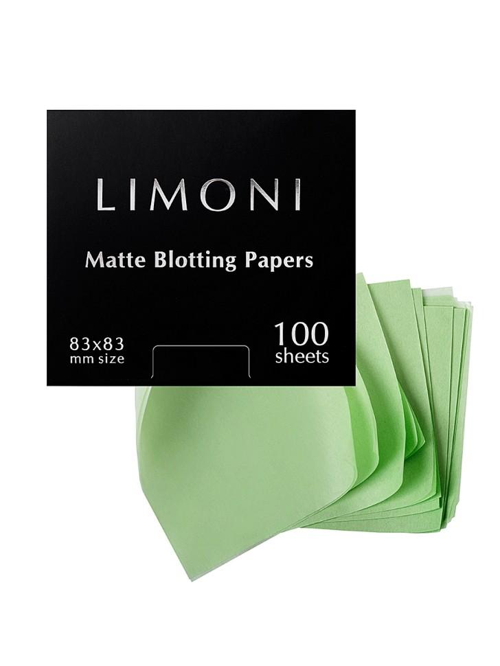 Limoni Матирующие салфетки для лица Matte Blotting Papers 100шт.Limoni<br>В состав салфеток входит каолин(белая китайская глина), который абсорбирует кожный себум, тем самым предотвращая появление воспалений. В составе также экстракт розмарина,обеспечивающий активное противовоспалительное действие. Благодаря компактному формату салфетки можно всегда носить с собой и брать в путешествия. Они незаменимы для ухода за кожей в летний период. Можно использовать поверх макияжа,не боясь его повредить.<br><br>Вес г: 20<br>Бренд : Limoni<br>Тип кожи : комбинированная, жирная<br>Страна производитель : Италия