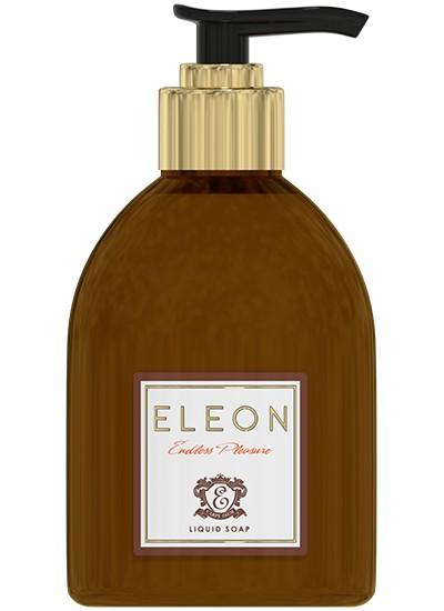ELEON Мыло жидкое для рук Engless pleasure 300млEleon<br>Мягкая формула жидкого мыла бережно очищает кожу, оставляя неповторимый пудровый аромат ванили, ветивера и пачули.  Уникальный комплекс натуральных масел пальмарозы и найоли увлажняет, питает и защищает кожу рук.<br><br>Ингредиенты:Масло миндальной косточки, экстракт зародышей пшеницы, масло найоли, масло пальмарозы, экстракт кокоса<br><br>Вес г: 350<br>Бренд : Eleon<br>Объем мл: 300<br>Страна производитель : Россия