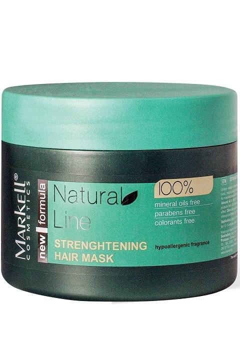 Markell Бальзам-маска укрепляющая для волосMarkell<br>NATURAL LINE – принципиально новый подход к уходу за волосамиУникальная современная формула (ультрамягкая кондиционирующая основа, натуральные растительные компоненты, безопасный консервант нового поколения)Бальзам-маска предназначена для максимально бережного и интенсивного ухода за ослабленными волосами. Натуральные масла в составе устраняют сухость волос, препятствуют их ломкости, смягчают кожу головы, предотвращают потерю влаги, интенсивно питают волосы, стимулируют их рост, придают здоровый блеск и мягкость. Бальзам-маска возвращает Вашим волосам их жизненную силу и энергию, оставляя после применения чувство комфорта.Применение: нанести небольшое количество бальзам-маски на чисто вымытые влажные волосы, распределить по всей длине, через 10-15 минут смыть.<br><br>Вес г: 320<br>Бренд: Markell<br>Объем мл: 290<br>Тип волос: сухие, тонкие и ослабленные, длинные и секущиеся<br>Действие: питание, укрепление, блеск и эластичность, для роста волос<br>Тип средства для волос: бальзам<br>Страна производитель: Белоруссия