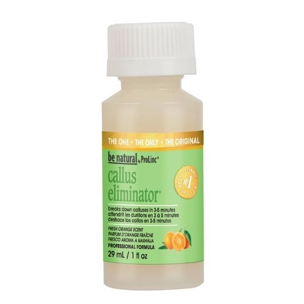 BE NATURAL Средство для удаления натоптышей с запахом апельсина 30млBe Natural<br>Средство Callus Eliminator разработано под наблюдением дерматологов, подходит для не обрезного и комбинированного педикюра. Высокая концентрация препарата позволяет максимально быстро, за 3-5 минут решить проблему огрубевшей кожи и мозолей, не высушивает кожу, абсолютно безопасен. Воздействует только на ороговевший слой, не травмируя живые клетки эпидермиса.<br><br>Вес г: 50<br>Бренд : Be Natural<br>Объем мл: 30<br>Страна производитель : США