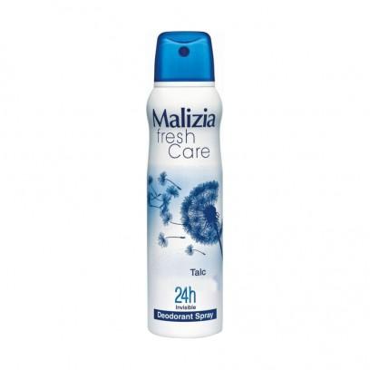 MALIZIA Део-антиперсперант женский TalcMalizia<br>Аэрозольный дезодорант-антиперспирант Malizia TALC станет незаменимым помощником в борьбе с потоотделением и неприятным запахом. Его мягкая формула регулирует выделение пота и дарит ощущение чистоты и свежести на целый день. Средство не содержит спирта и идеально подходит для чувствительной, подверженной аллергии кожи. Парфюмерная композиция обладает тонким деликатным ароматом. Активные компоненты обеспечивают бережный уход, смягчая и успокаивая нежную кожу. Благодаря аэрозольной системе дезодорант удобно наносится и быстро высыхает, не оставляя пятен на одежде. С дезодорантом Malizia вы будете чувствовать себя более уверенно и комфортно на протяжении всего дня.<br><br>Вес г: 180<br>Бренд : Malizia<br>Объем мл: 150<br>Тип дезодоранта : спрей<br>Страна производитель : Италия