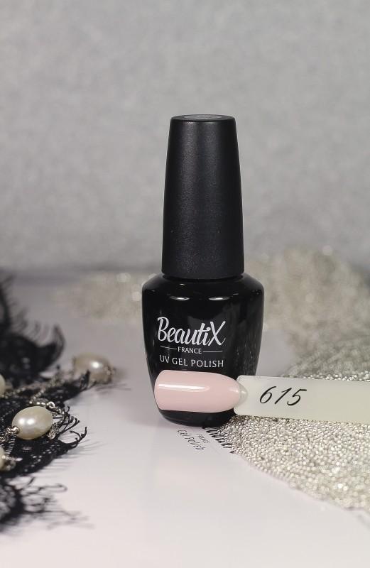 Beautix Гель-лак для ногтей 15 мл (№615)Beautix<br>Beautix – французские гель-лаки премиального качества. Материал отличается простотой в нанесении, плотностью цветов и стойкостью покрытия более 2-х недель без сколов и трещин. Роскошная палитра цветов и регулярно обновляющиеся коллекции будут по вкусу даже самым притязательным мастерам. При этом гель-лаки абсолютно безопасны, не содержат вредных веществ и практически не имеют запаха.<br>  Способ применения:  Делаем маникюр любым удобным вам способом. Придаем форму, бафим.  Обезжириваем ногти жидкостью для устранения лишней влаги и лучшей сцепки поверхности ногтя с материалом.  Наносим базовое покрытие Beautix тонким слоем длинными плавными движениями сверху вниз, отступая от кутикулы на 1-2 мм и не касаясь боковых валиков. Запечатываем торец. Просушиваем в LED-лампе 30 секунд, в UV-лампе - 2 минуты.  Наносим цвет. Первый слой очень тонко, так же длинными плавными движениями максимально близко к кутикуле и боковым валикам, но, не касаясь и не затрагивая их. Запечатываем торец. Полимеризуем в LED-лампе 30 секунд, в UV-лампе - 2 минуты. Покрытие Beautix достаточно плотное, яркое и даже первый слой ложится без проплешин и полос. Вторым более плотным слоем выравниваем цвет (если нужно), снова запечатываем ноготок и полимеризуем.  Наносим верхнее покрытие Beautix (необходимо для защиты от царапин, сколов и выцветания), запечатываем торец, полимеризуем в LED-лампе 30 секунд, в UV-лампе - 2 минуты, достаем из лампы и даем ноготкам остыть 1 минутку. Снимаем липкий слой жидкостью для удаления дисперсии Beautix, после чего покрытие приобретает стойкий глянцевый блеск.  Состав:  Этоксилат (5) Пентаэритритолтетраакрилат, 2-гидроксипропилметакрилат, триметилолпропантриакрилат, 2-гидроксиэтилметакрилат, 1-гидроксициклогексилфенилкетон, Н-диметилакриламид, этилен дистеарамид.  Продукция французской марки Beautix завоевала сердца тысяч российских мастеров, благодаря премиальному качеству, долговечности и безопасности гель-лаков и ст