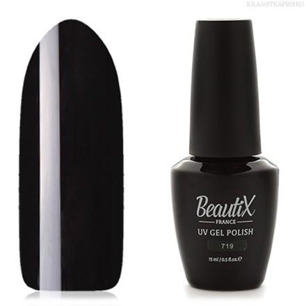 Beautix Гель-лак для ногтей 15 мл (№719)Beautix<br>Beautix – французские гель-лаки премиального качества. Материал отличается простотой в нанесении, плотностью цветов и стойкостью покрытия более 2-х недель без сколов и трещин. Роскошная палитра цветов и регулярно обновляющиеся коллекции будут по вкусу даже самым притязательным мастерам. При этом гель-лаки абсолютно безопасны, не содержат вредных веществ и практически не имеют запаха.<br>  Способ применения:  Делаем маникюр любым удобным вам способом. Придаем форму, бафим.  Обезжириваем ногти жидкостью для устранения лишней влаги и лучшей сцепки поверхности ногтя с материалом.  Наносим базовое покрытие Beautix тонким слоем длинными плавными движениями сверху вниз, отступая от кутикулы на 1-2 мм и не касаясь боковых валиков. Запечатываем торец. Просушиваем в LED-лампе 30 секунд, в UV-лампе - 2 минуты.  Наносим цвет. Первый слой очень тонко, так же длинными плавными движениями максимально близко к кутикуле и боковым валикам, но, не касаясь и не затрагивая их. Запечатываем торец. Полимеризуем в LED-лампе 30 секунд, в UV-лампе - 2 минуты. Покрытие Beautix достаточно плотное, яркое и даже первый слой ложится без проплешин и полос. Вторым более плотным слоем выравниваем цвет (если нужно), снова запечатываем ноготок и полимеризуем.  Наносим верхнее покрытие Beautix (необходимо для защиты от царапин, сколов и выцветания), запечатываем торец, полимеризуем в LED-лампе 30 секунд, в UV-лампе - 2 минуты, достаем из лампы и даем ноготкам остыть 1 минутку. Снимаем липкий слой жидкостью для удаления дисперсии Beautix, после чего покрытие приобретает стойкий глянцевый блеск.  Состав:  Этоксилат (5) Пентаэритритолтетраакрилат, 2-гидроксипропилметакрилат, триметилолпропантриакрилат, 2-гидроксиэтилметакрилат, 1-гидроксициклогексилфенилкетон, Н-диметилакриламид, этилен дистеарамид.  Продукция французской марки Beautix завоевала сердца тысяч российских мастеров, благодаря премиальному качеству, долговечности и безопасности гель-лаков и ст