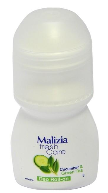 MALIZIA Део-ролик Cucumber&amp;Green teaMalizia<br>Дезодорант шариковый  для тела,  с тонизирующим ароматом зеленого чая и огурца, обеспечивает антибактериальную защиту в течение всего дня.<br><br>Вес г: 70<br>Бренд : Malizia<br>Объем мл: 50<br>Тип дезодоранта : шариковый<br>Страна производитель : Италия