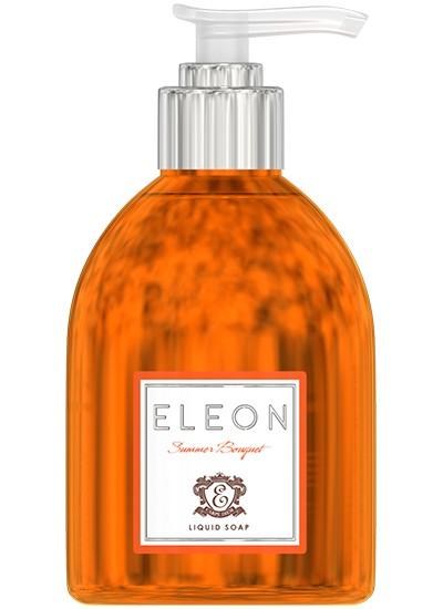 ELEON Мыло жидкое для рук Summer Bouquet 300млEleon<br>Мягкая формула жидкого мыла бережно очищает кожу, оставляя легкий аромат цветов апельсина, плодов мандарина и сладкого миндаля. Уникальный комплекс натуральных масел и экстрактов бережно ухаживает за кожей рук.<br><br>Ингредиенты:Экстракт цветков апельсина, экстракт плодов мандарина, масло миндальной косточки, масло найоли<br><br>Вес г: 350<br>Бренд : Eleon<br>Объем мл: 300<br>Страна производитель : Россия