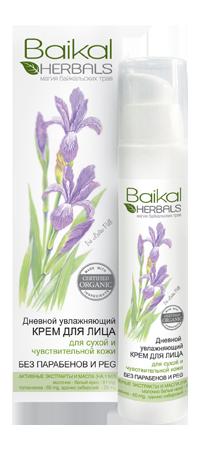Baikal Herbals Крем для лица Увлажняющий для сухой чувствительной кожиBaikal Herbals<br>Дневной увлажняющий крем для лица, созданный на основе экстрактов растений Байкала, глубоко увлажняет, смягчает и успокаивает кожу, дарит ей ощущение комфорта на целый день. Молочно-белый ирис смягчает кожу, делает её бархатистой и нежной. Толокнянка обладает антисептическим действием, устраняет шелушение и раздражение. Адонис сибирский увлажняет, способствует интенсивному обновлению клеток. Благодаря натуральным активным компонентам, крем восстанавливает водный баланс кожи, защищает её от воздействия агрессивных факторов окружающей среды, придаёт ей здоровый и ухоженный вид. Не содержит парабенов и PEG.<br><br>Вес г: 75<br>Бренд : Baikal Herbals<br>Объем мл: 50<br>Тип кожи : сухая, чувствительная<br>Консистенция : крем<br>Тип крема : увлажняющий, восстанавливающий<br>Возраст : 25+, 30+, 35+, 40+<br>Эффект : выравнивание, эластичность<br>По времени суток : дневной уход<br>Страна производитель : Россия